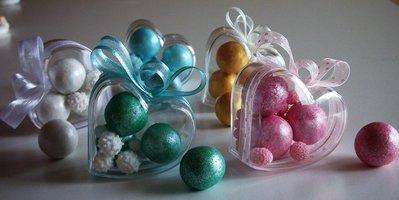 Cuoricino Segnaposto confetti colorati