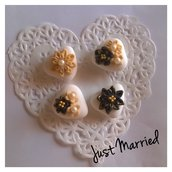 segnaposto matrimonio, wedding, confetti decorati, gatsby theme