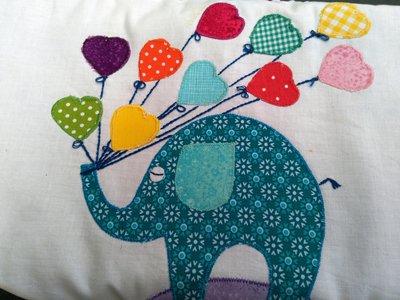 Fasciatoio da viaggio in tessuto e spugna con decoro 'Elefantino'