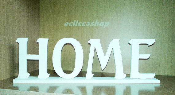 Scritta home in legno per il fai da te 1 pz materiali for Scritta home in legno