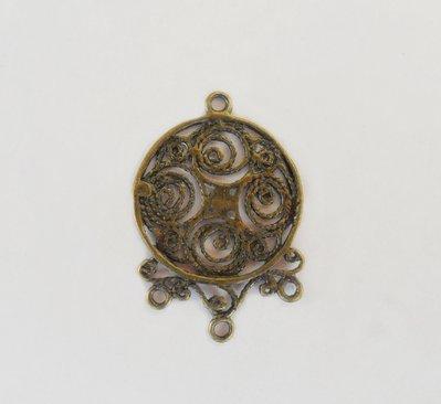 Base  orecchini Link connettore in ottone color bronzo 1 PZ