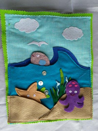 Quiet book:pagine per libro educativo in tessuto per bambini in età prescolare.