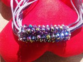 collana in alluminio e perle simil swarovski fatta a mano