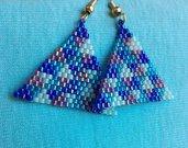 Blue triangles earrings / Orecchini a triangoli blu miyuki delica