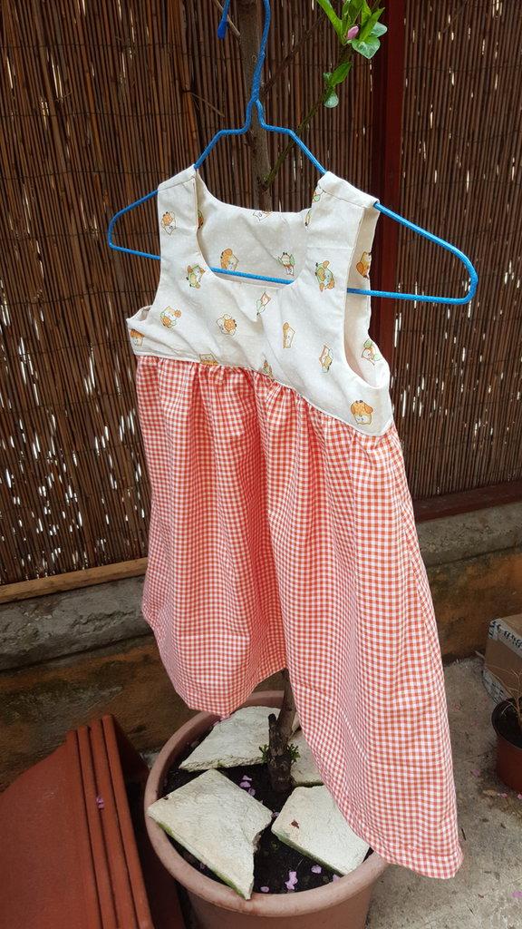 vestito arricciato  bimba