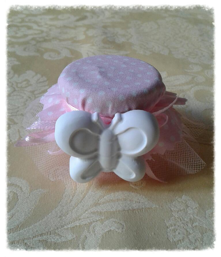 Bomboniera barattolino in vetro con gessetto per battesimo, comunione, cresima