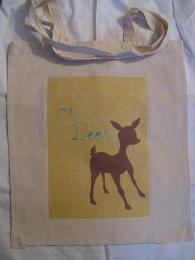 Shopper con manici lunghi - Cervo deco