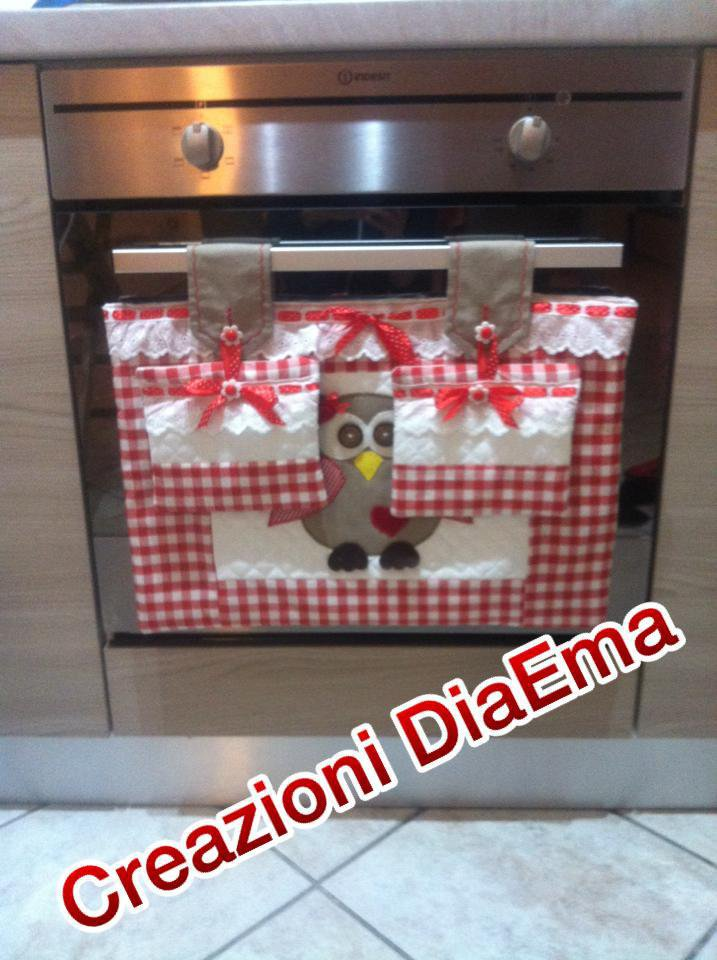 Copriforno e presine country chic
