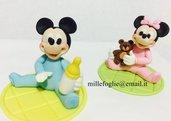 Decorazione torta baby Mickey Mouse Topolino in pasta di zucchero