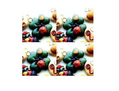 inserzione riservata 50 ciondoli quadrifoglio con coccinella