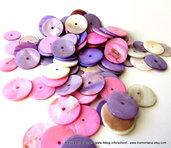"""Kit """"Glicine"""" per collane con madreperla e filato di puro lino"""