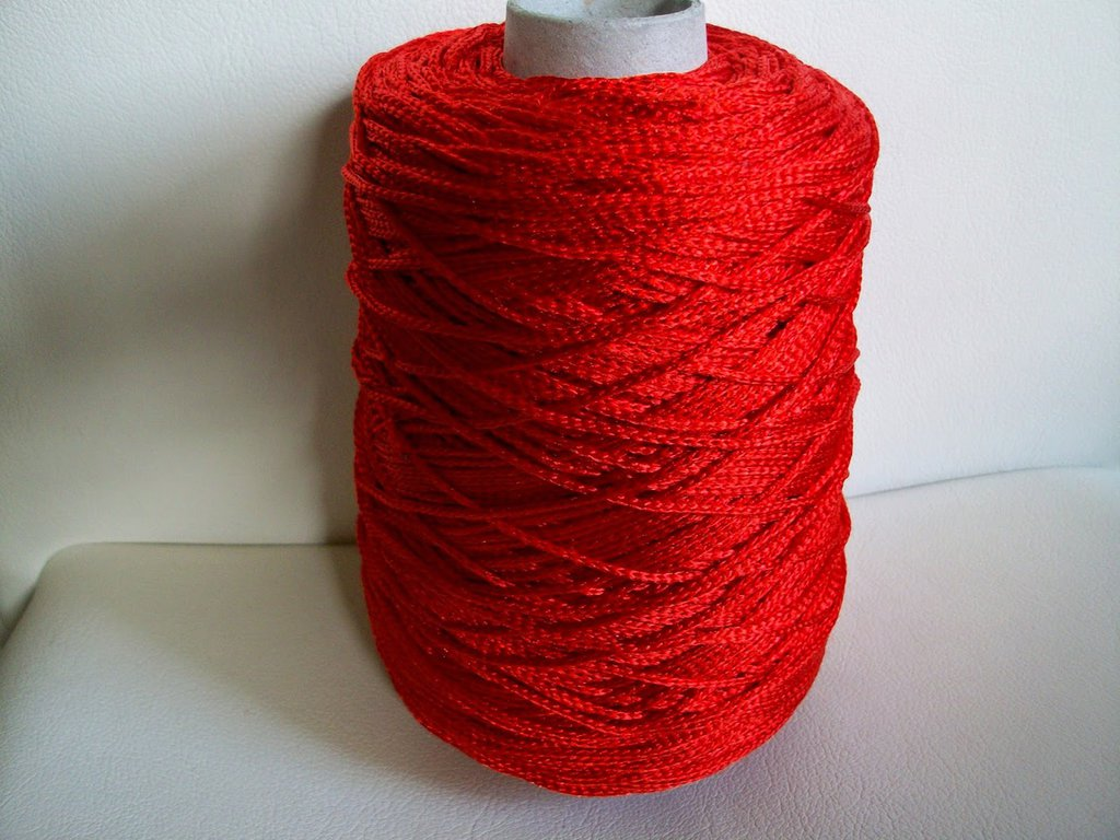 cordino thai effetto seta rosso
