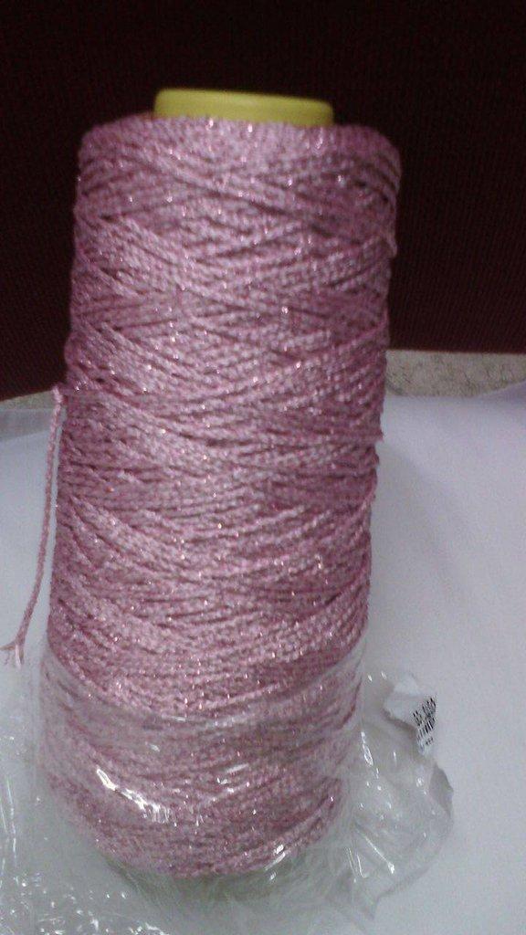 cordino thai effetto thai lurex rosa argento