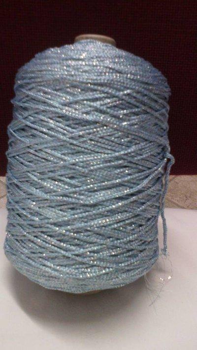 cordino thai effetto thai lurex azzurro