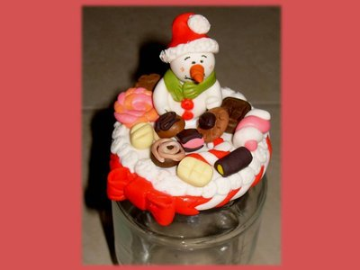 Portacioccolatini Natale- Pupazzo Neve