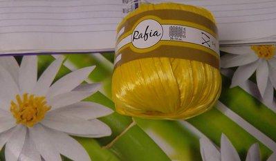 rafia in viscosa giallo