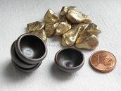 FUORI TUTTO 4 pezzi CIOTOLA miniatura  IN CERAMICA  COLOR marrone DOLLHOUSE