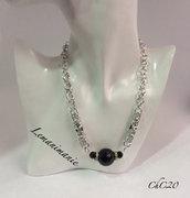 #girocollo #chainmaill #perla nera