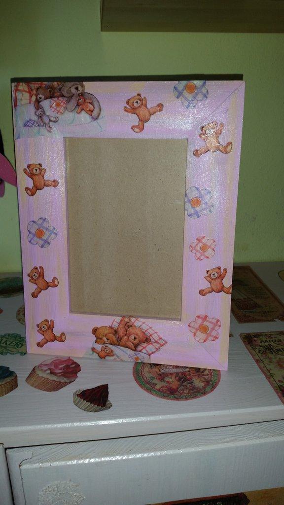 Portafoto in legno orsetti