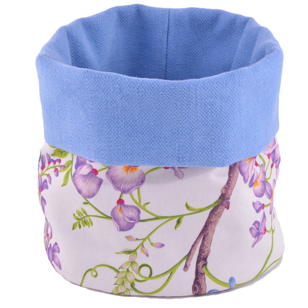 Sacchetto in cotone floreale