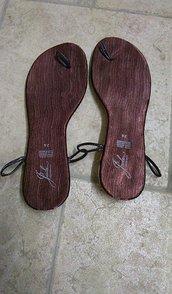 suole sandali uncinetto cm 26