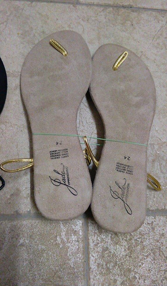 suole sandali uncinetto cm 24