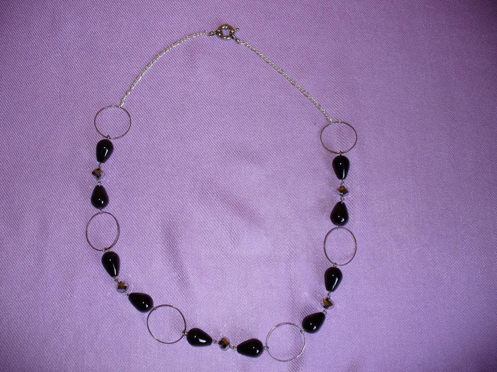 Collana Perle Onice Nero e Cristalli Cinesi e cerchi