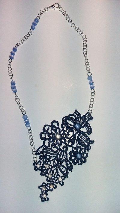 Collana Pizzo blu