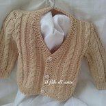 Maglietta / cardigan / giacchino in cotone beige