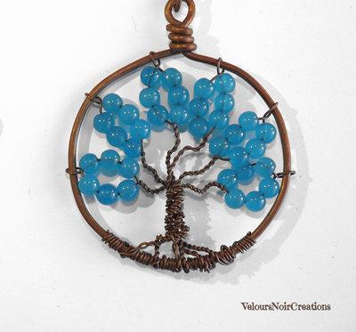 Collana con albero della vita in rame wire