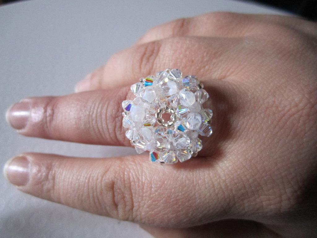 Anello Antico Crystal ab