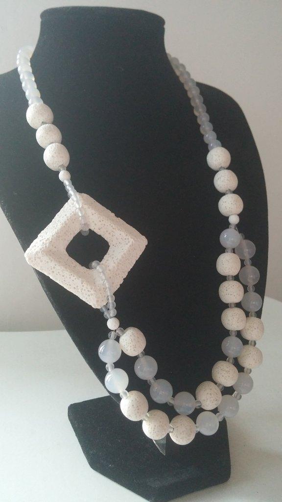 Collana Lava Bianca