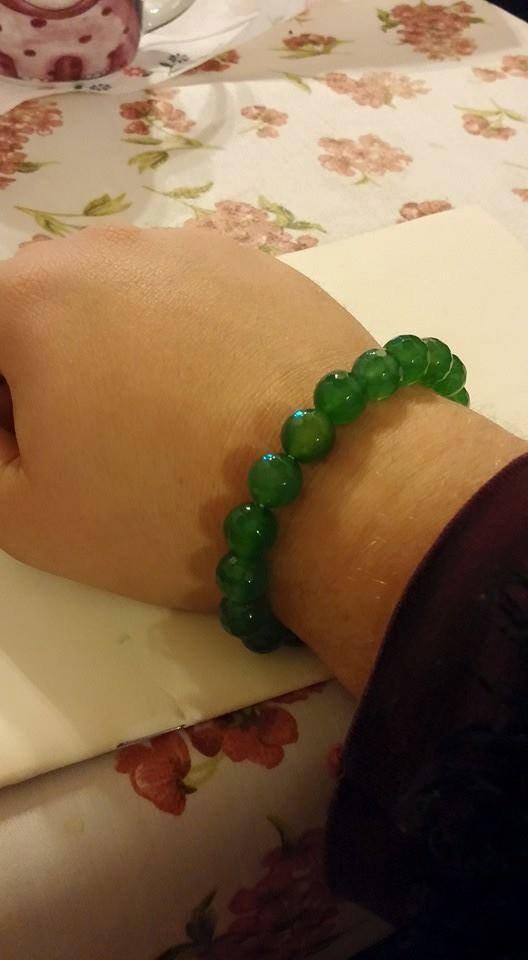 Bracciale Agata colorata verde