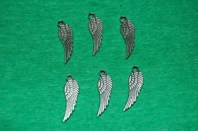 n. 6  charm ciondoli a forma di ali harry potter libertà per orecchini bracciali collane