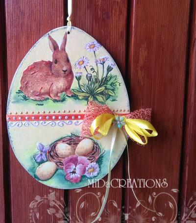 Decorazione per Pasqua (double face)in legno.Fatto a mano