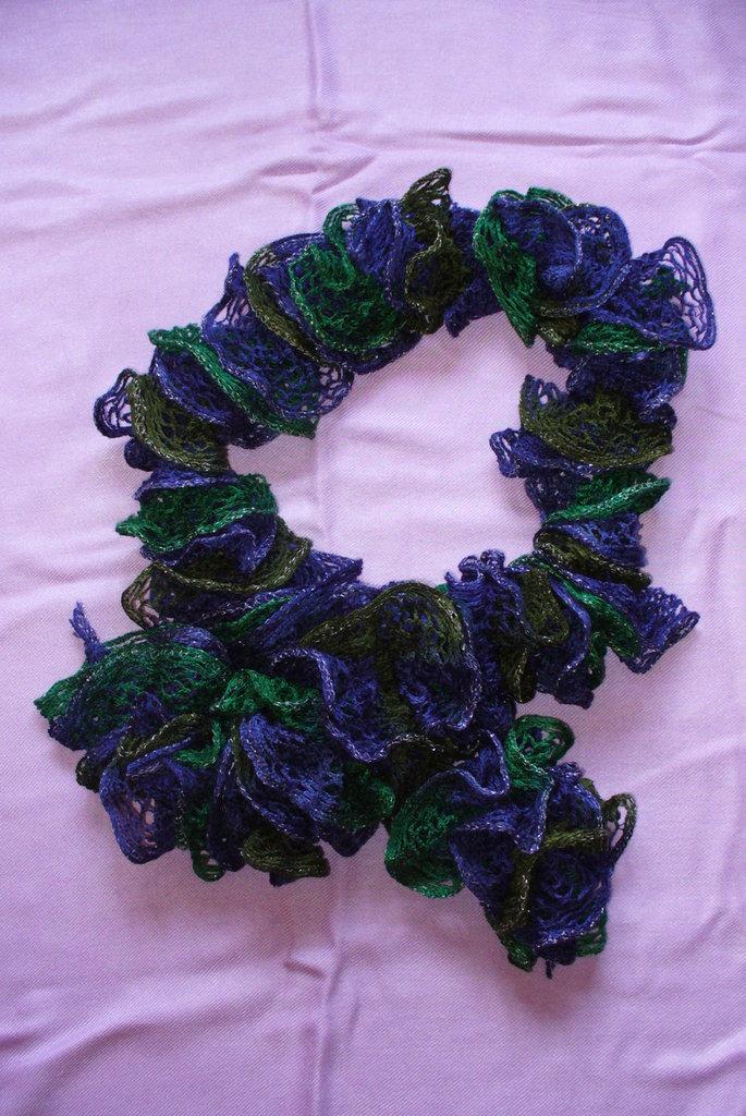 Sciarpa donna - Blu e Verde