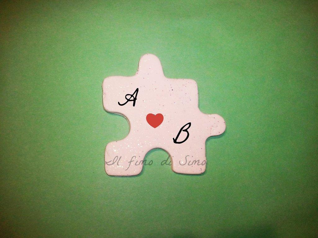 bomboniera matrimonio puzzle in fimo