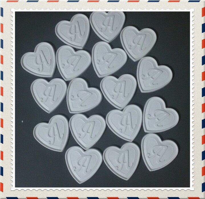Gessetto cuore con lettera