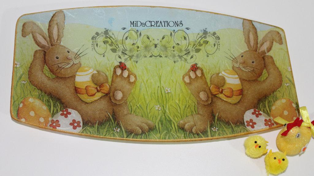 Piatto porta cioccolatini per Pasqua! (grande)