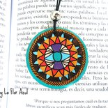 Collana Con Ciondolo in Legno Dipinto a Mano Frida