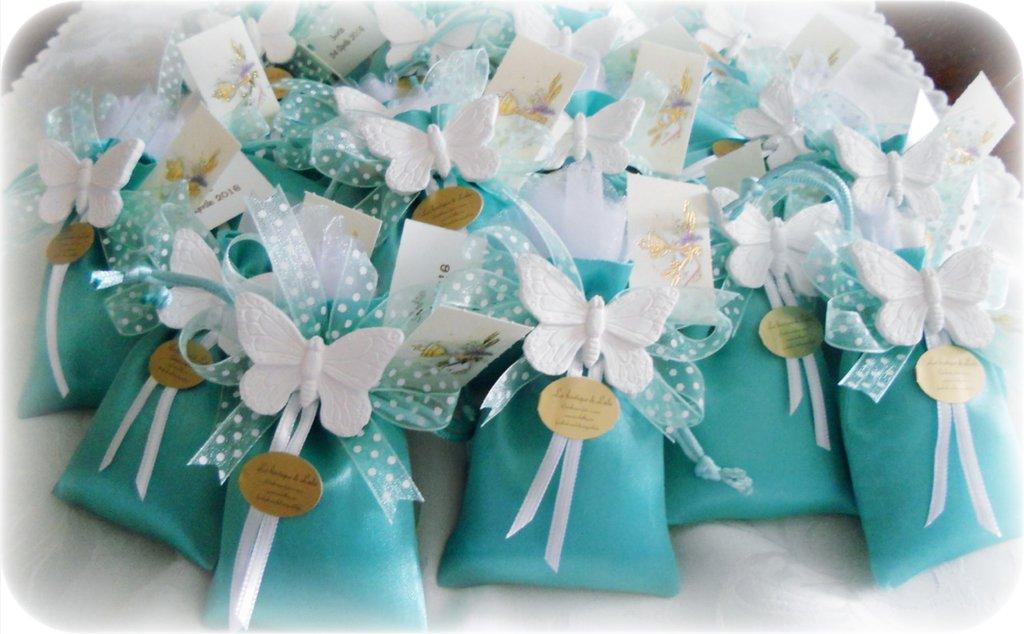 Segnaposto Matrimonio Tiffany.Bomboniera Completa O Segnaposto Color Tiffany Feste Bombonier