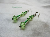 Orecchini verdi con Swarovski