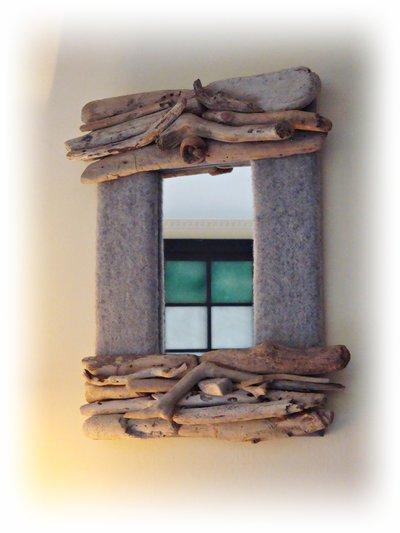 POLAR specchio con legni di mare