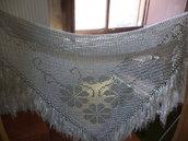 Scialle lavorato con filo d'argento