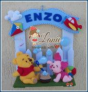 Annuncio fiocco nascita Winnie the Pooh e Pimpi