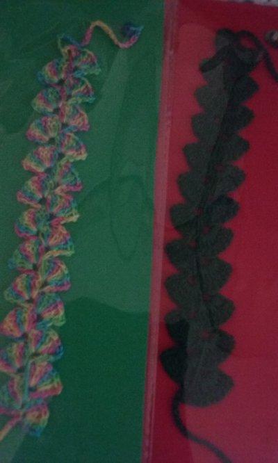 Braccialetti crochet stile cruciani