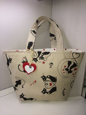 Borsa shoppers casual gatti