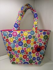 Borsa shoppers casual bottoni