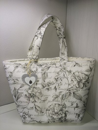 Borsa floreale shoppers casual