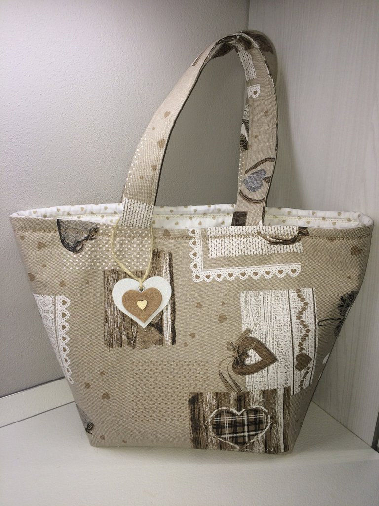 Borsa shoppers casual cuori